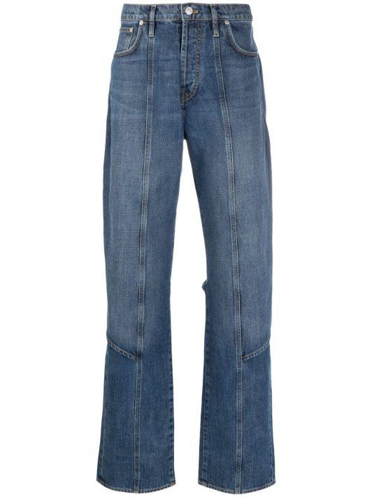 Kenzo straight-leg apron jeans - Blau