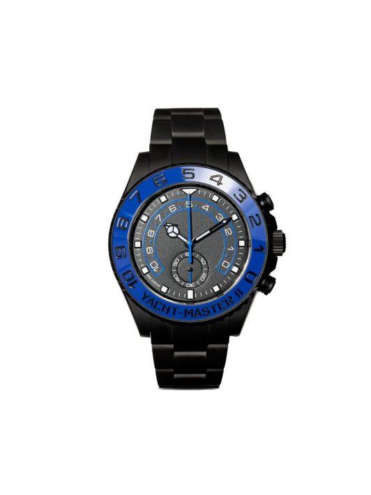 MAD Paris customised Rolex Yacht-Master II watch - Schwarz