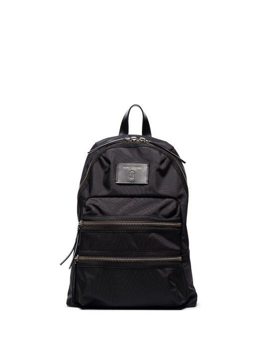 Marc Jacobs logo-patch zipped backpack - Schwarz