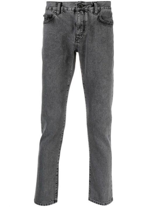 Off-White Jeans mit schmalem Bein - Schwarz