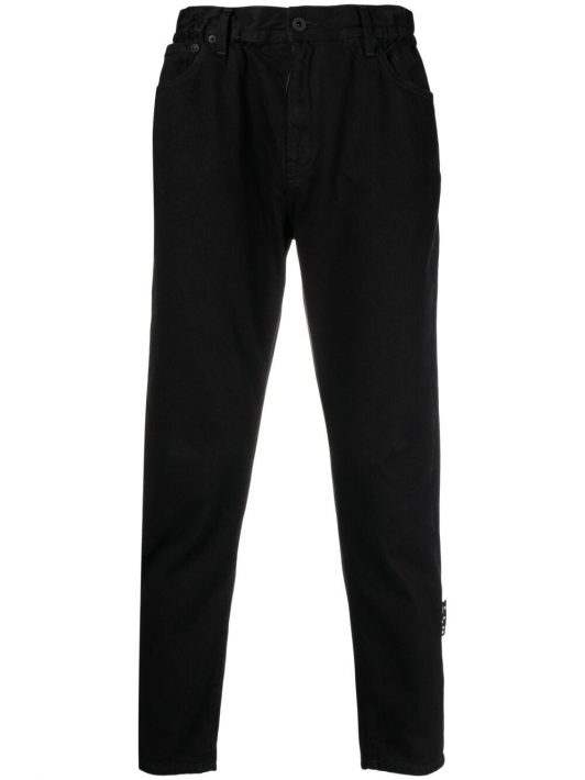 Off-White high-rise straight-leg jeans - Schwarz