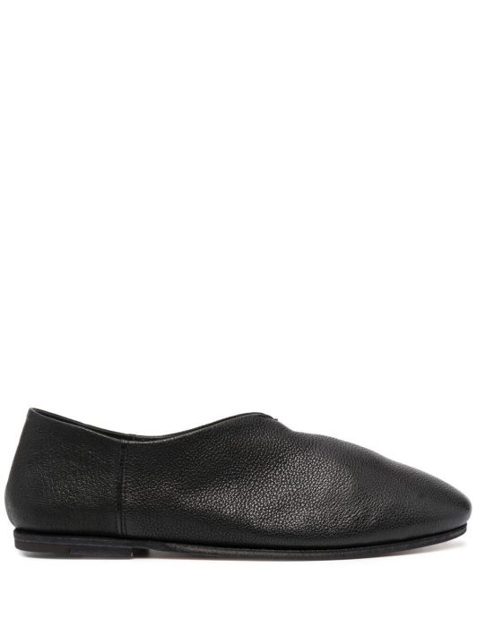 Officine Creative grained leather slippers - Schwarz