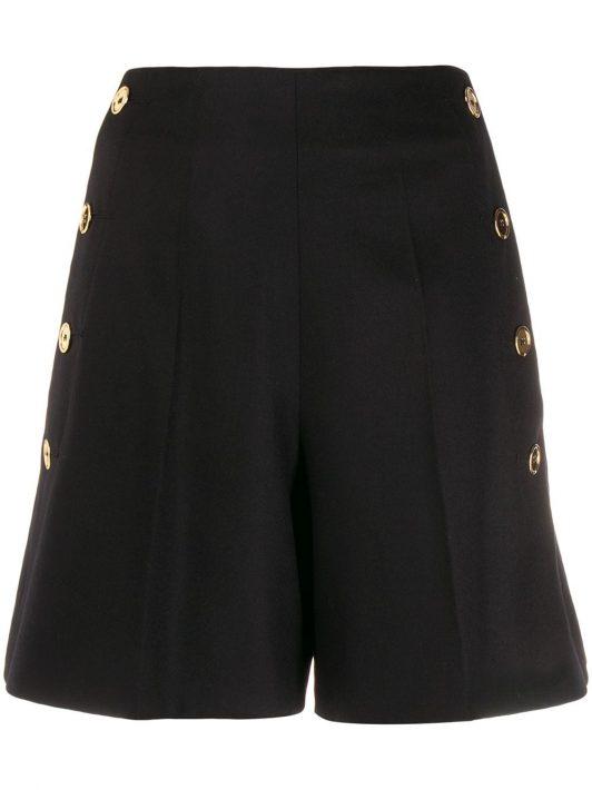 Patou Shorts mit seitlichen Knöpfen - Schwarz
