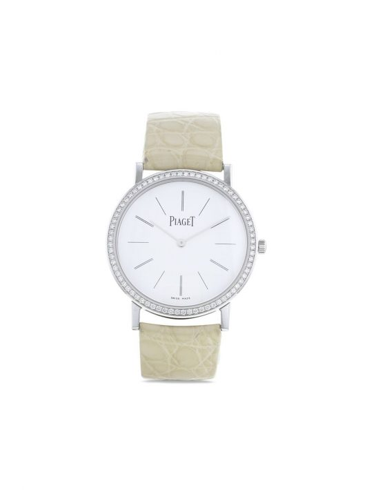 Piaget 2010 pre-owned Altiplao 34mm - Weiß
