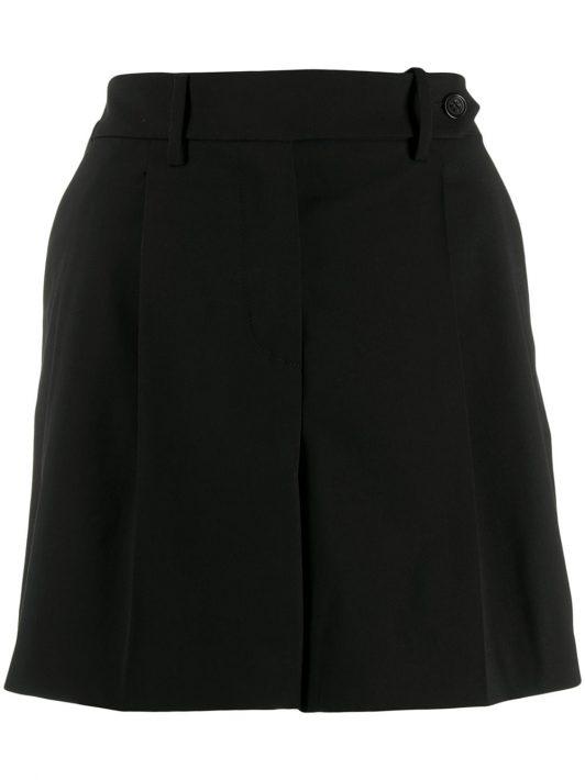 RED Valentino Shorts mit hohem Bund - Schwarz