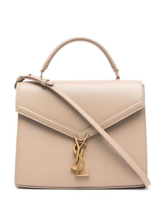 Saint Laurent Mittelgroße Cassandra Handtasche - Braun