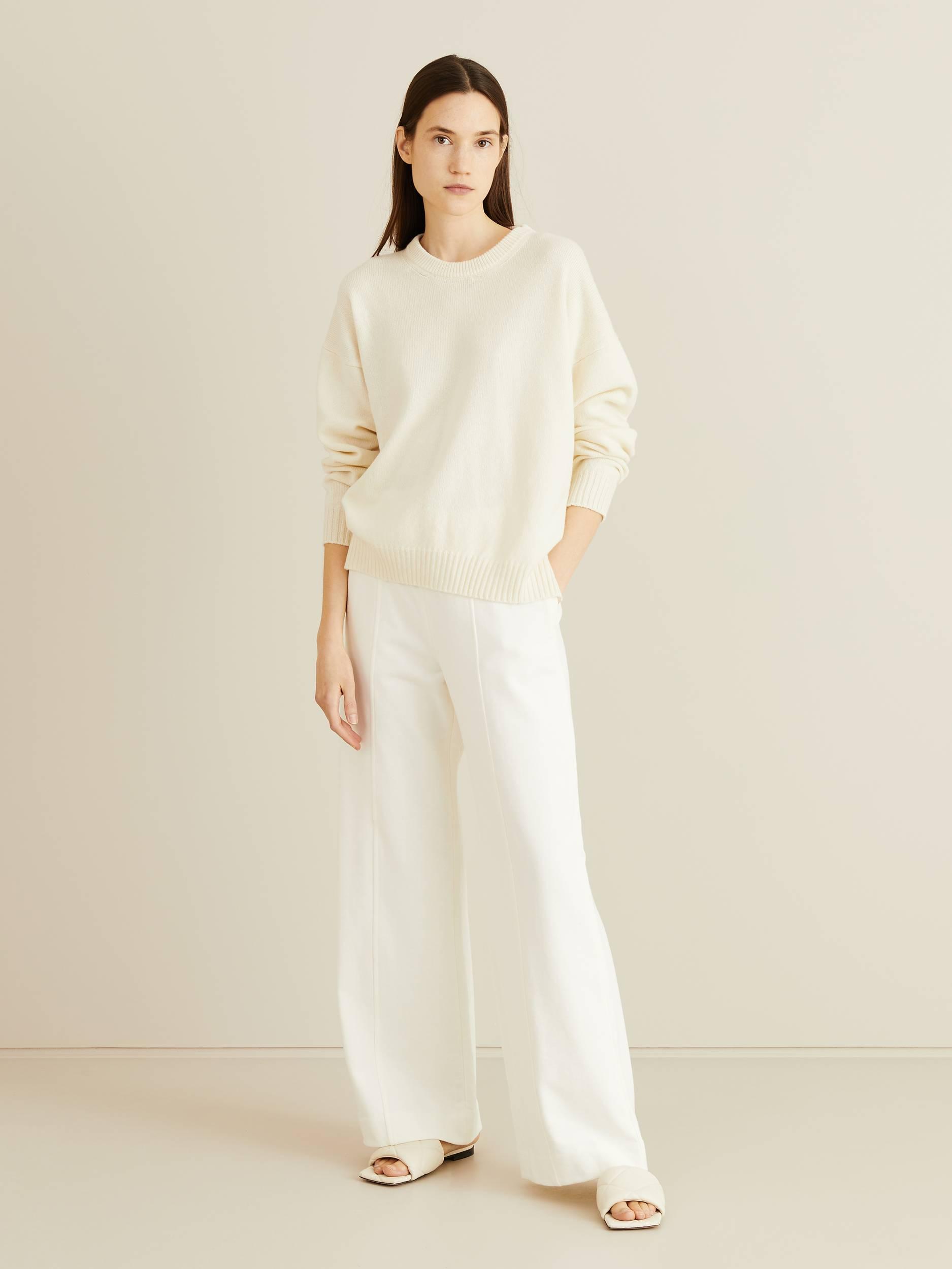 The Row - Merino-Cashmere-Pullover 'Ciranne' Crème