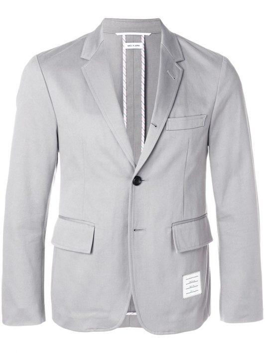 Thom Browne Sakko mit Taschen - Grau