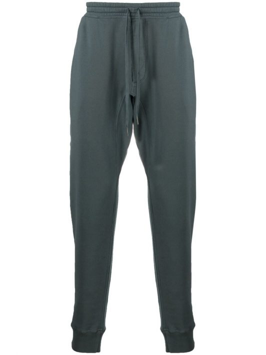 Tom Ford drawstring cotton track pants - Blau