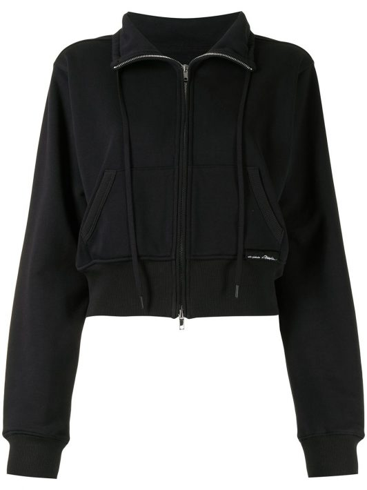 3.1 Phillip Lim Don't Sweat It Terry Jacke - Schwarz