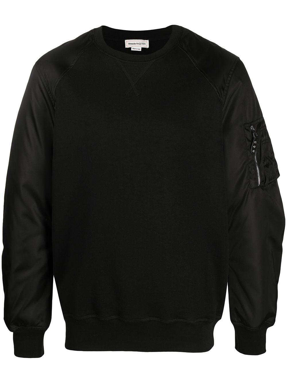 Alexander McQueen Sweatshirt mit Reißverschlusstasche - Schwarz