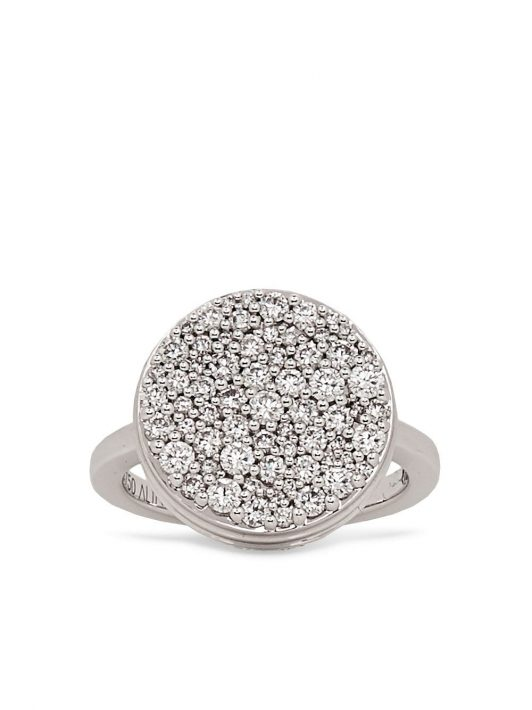 Alinka 18kt white gold diamond Black Caviar ring - Silber