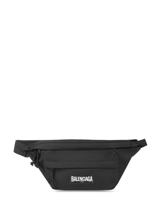 BALENCIAGA XXL oversized belt bag - Schwarz