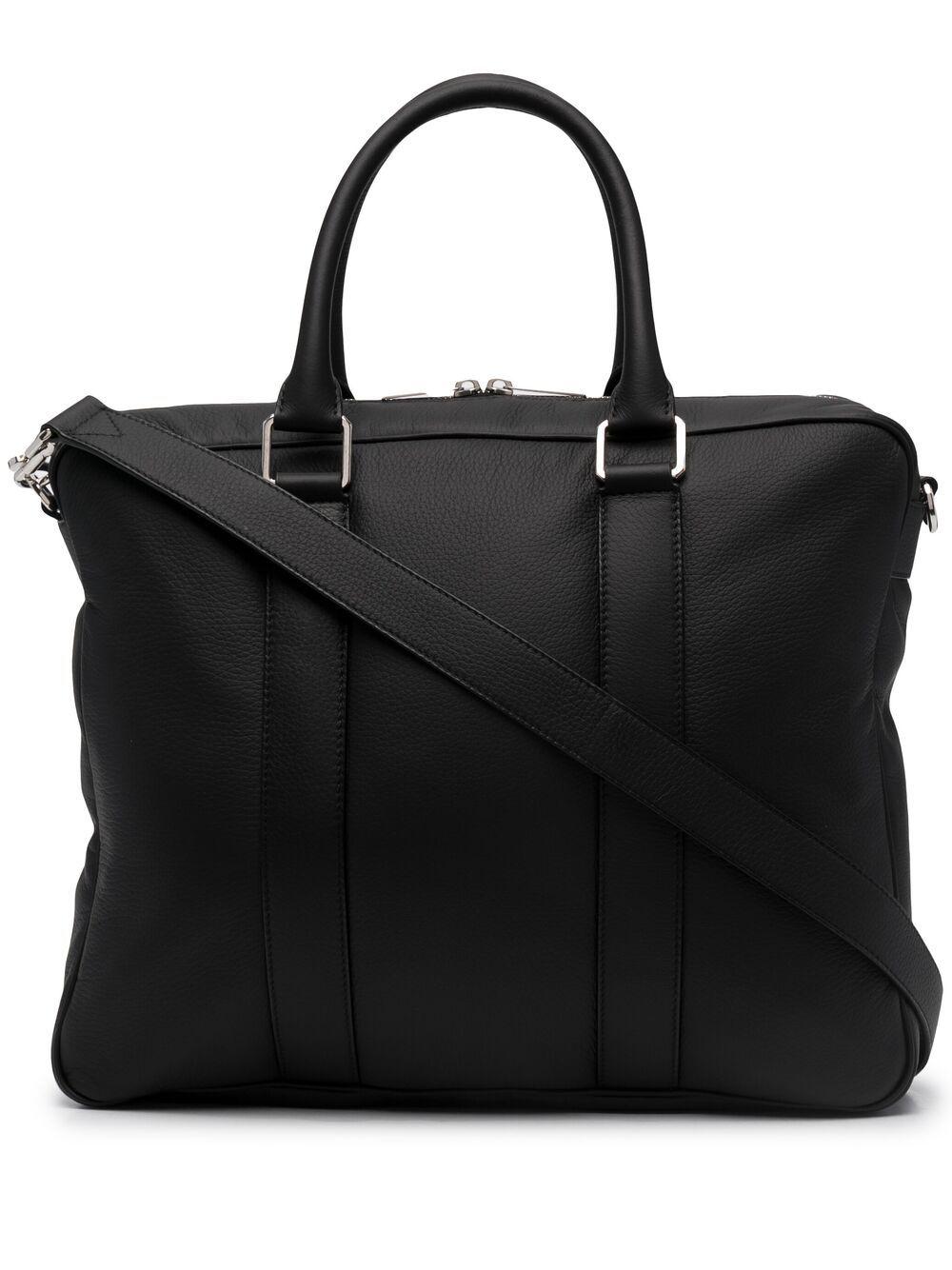 Bottega Veneta double-handle leather briefcase - Schwarz