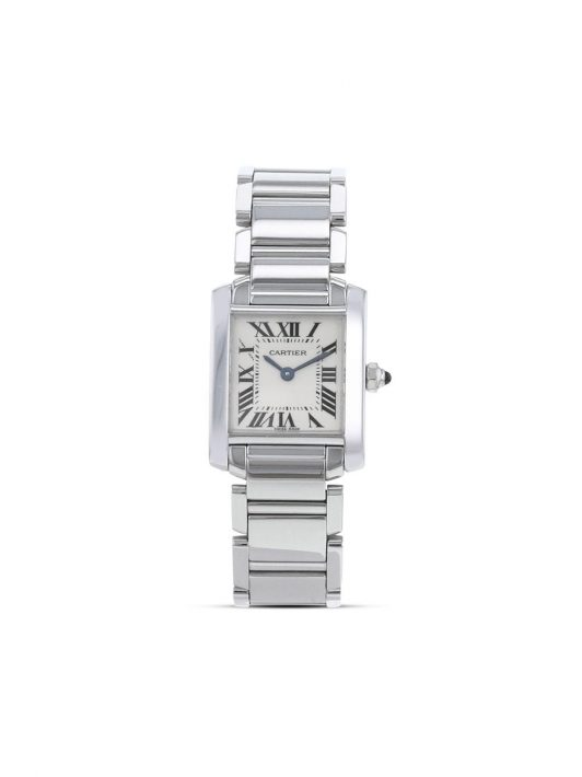 Cartier 2000s pre-owned Tank Française 20mm - Silber