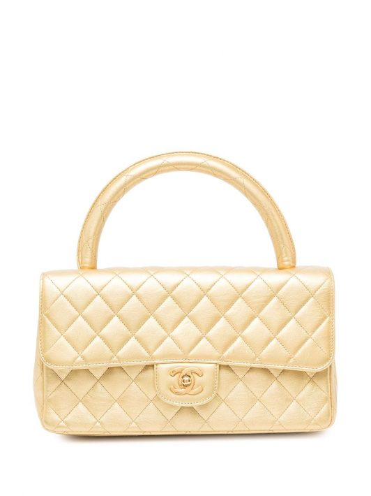 Chanel Pre-Owned 1992 Gesteppte Handtasche - Gold