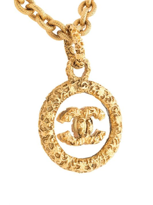 Chanel Pre-Owned 1993 Halskette mit Anhänger - Gold