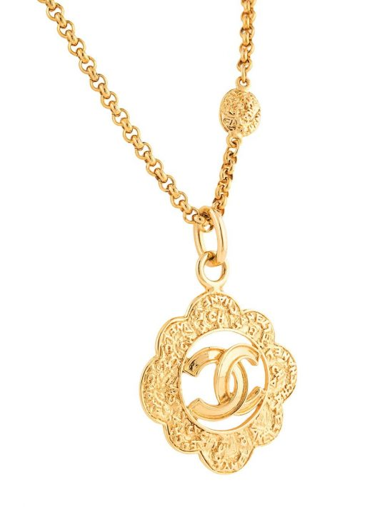 Chanel Pre-Owned 1995 CC-Halskette - Gold