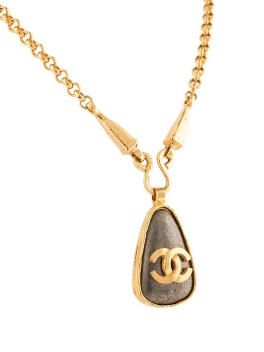 Chanel Pre-Owned 1997 Halskette mit Anhänger - Gold