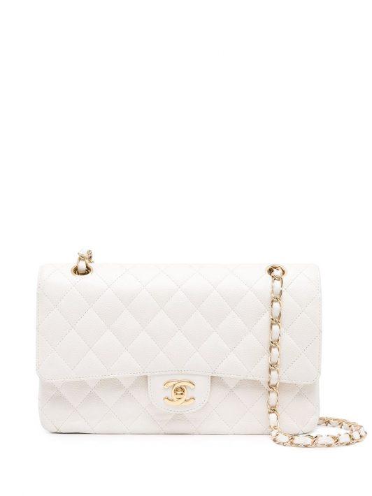 Chanel Pre-Owned 2004-2005 Schultertasche mit Doppelklappe - Weiß