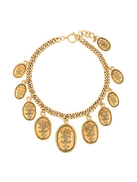 Chanel Pre-Owned Halskette mit Anhängern - Gold
