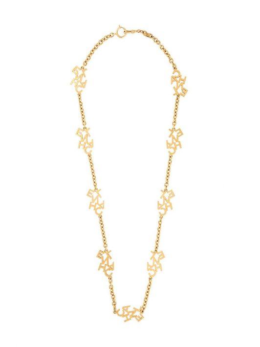 Chanel Pre-Owned Halskette mit Logo-Anhängern - Gold