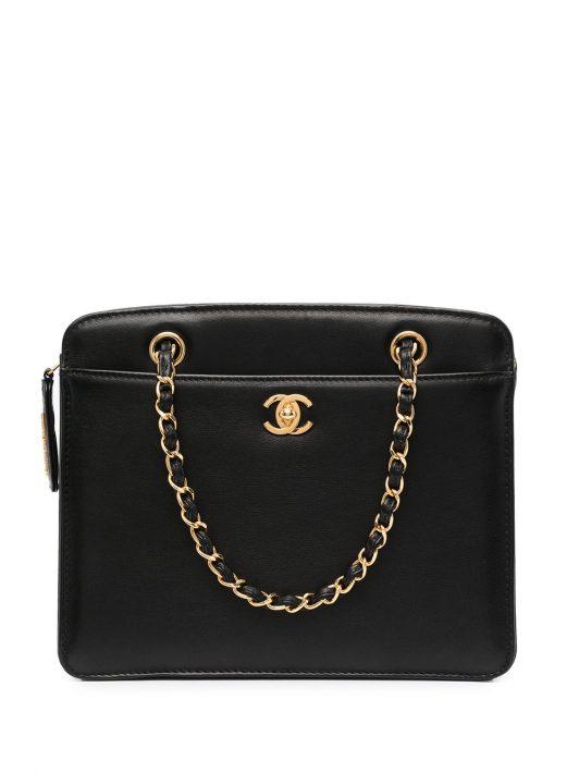 Chanel Pre-Owned Schultertasche mit Kettenriemen - Schwarz