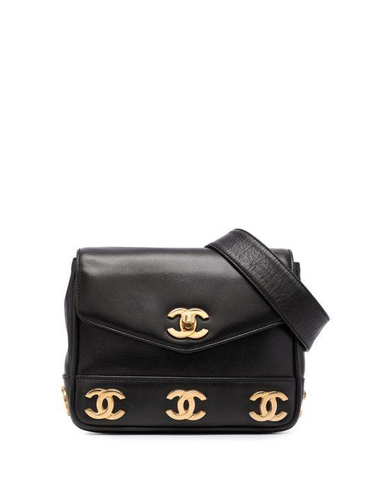 Chanel Pre-Owned Tripple CC Gürteltasche - Schwarz