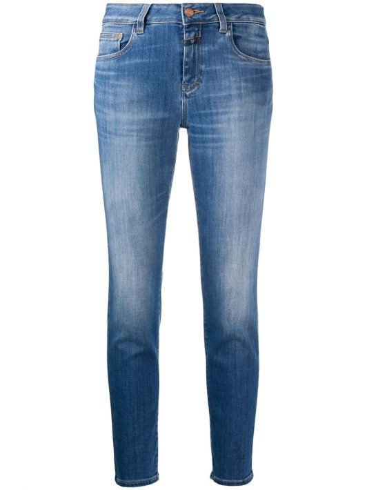 Closed Skinny-Jeans mit hohem Bund - Blau