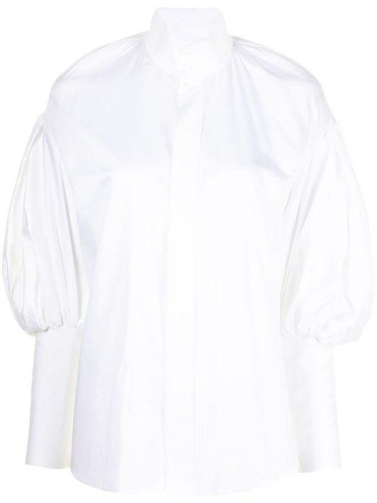 Dice Kayek high-neck poet sleeve shirt - Weiß