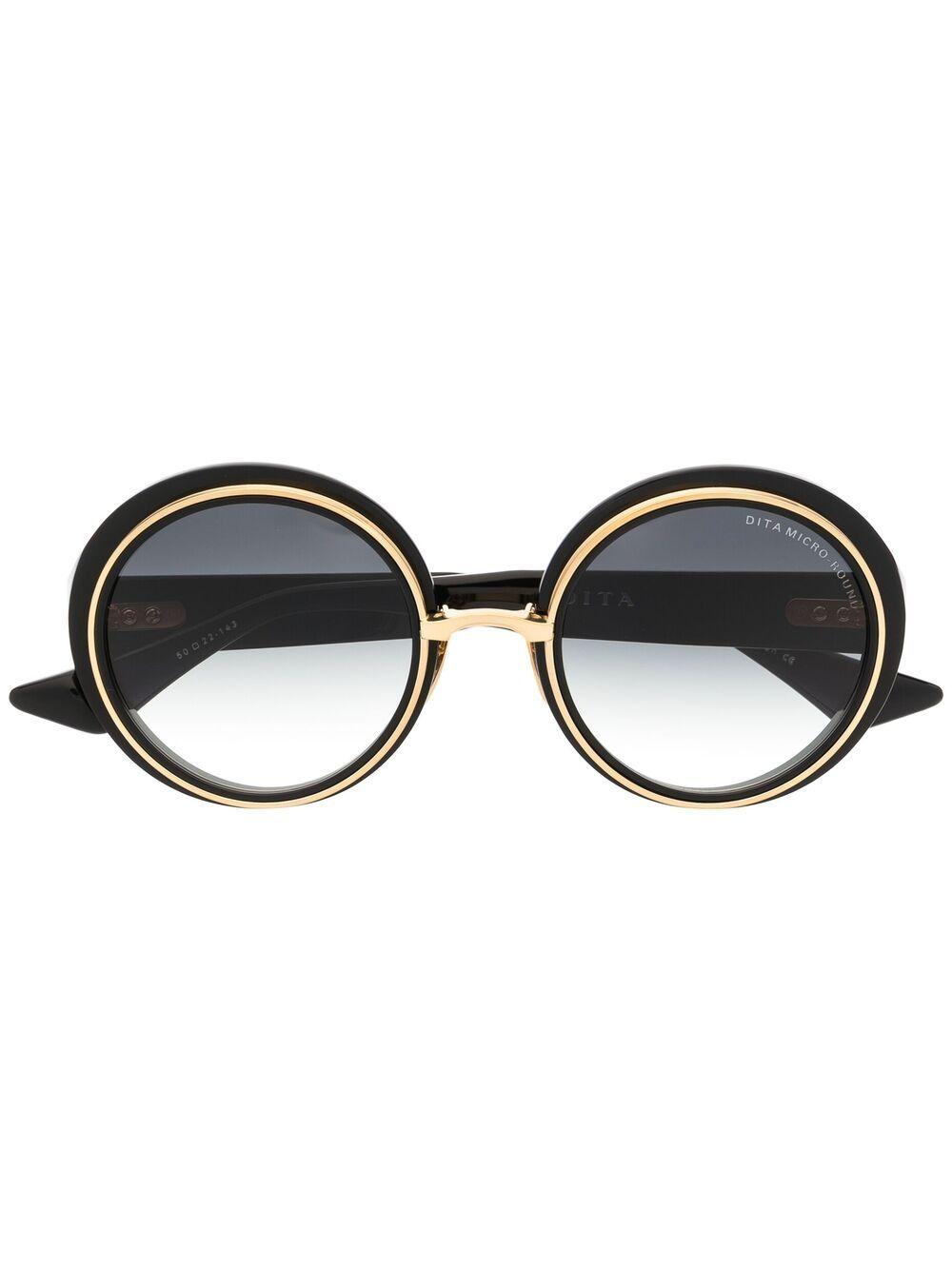 Dita Eyewear Micro-Round Sonnenbrille - Schwarz