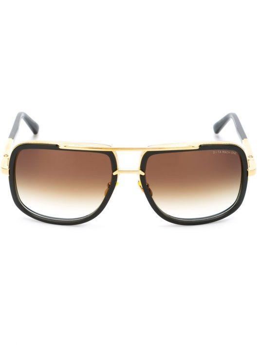 Dita Eyewear Sonnenbrille mit eckigem Gestell - Schwarz