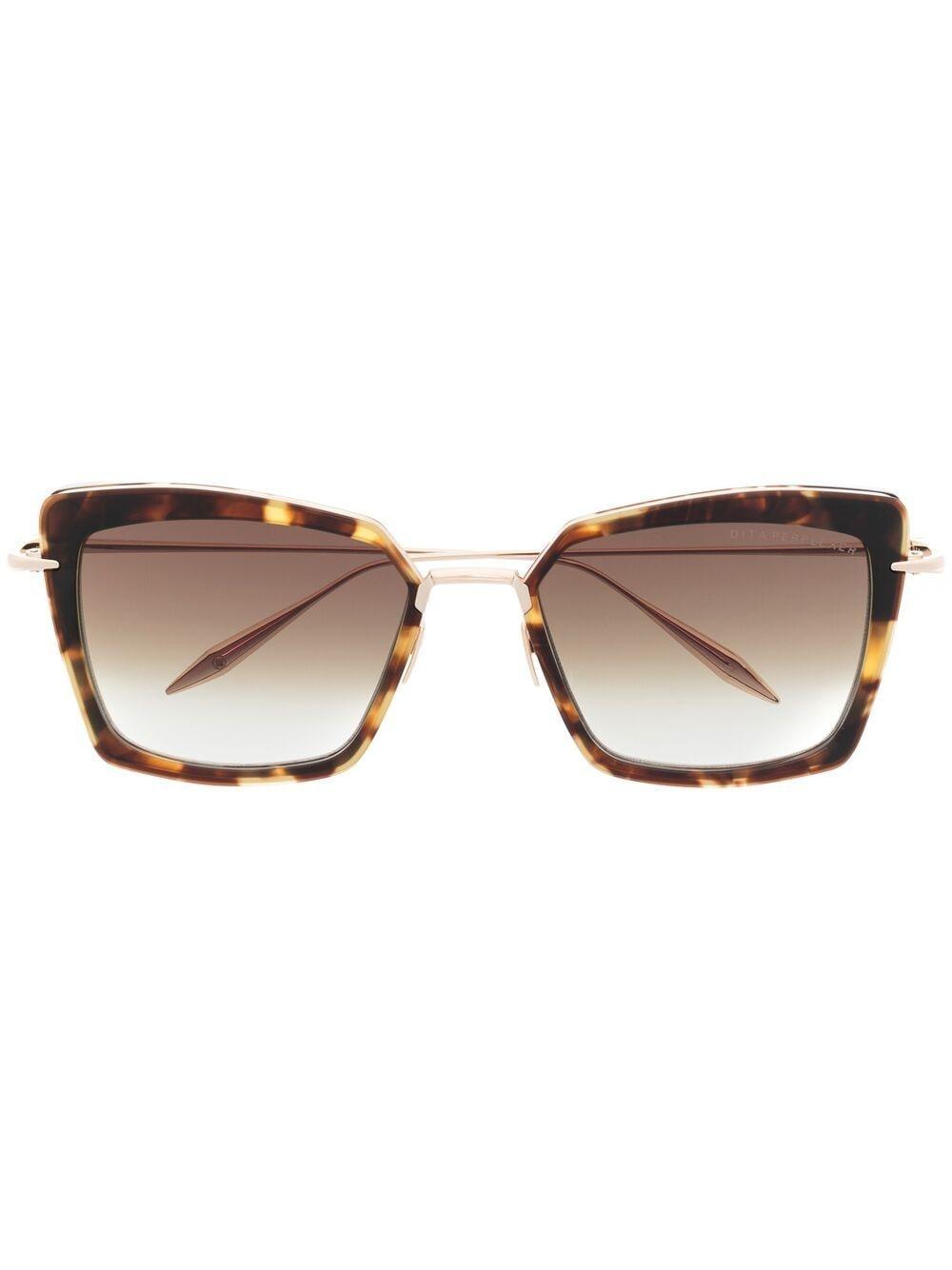 Dita Eyewear Sonnenbrille mit farbigen Gläsern - Gold