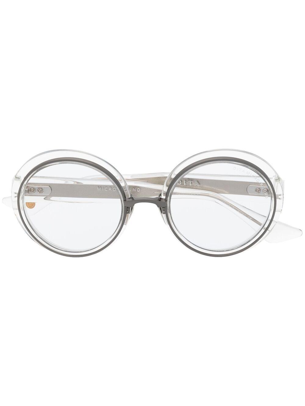 Dita Eyewear Sonnenbrille mit rundem Gestell - Nude