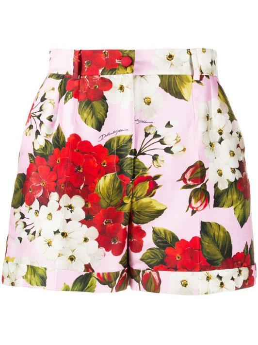 Dolce & Gabbana Shorts mit Blumen-Print - Rosa