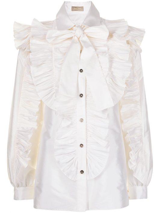 Elie Saab Hemd mit Rüschen - Weiß