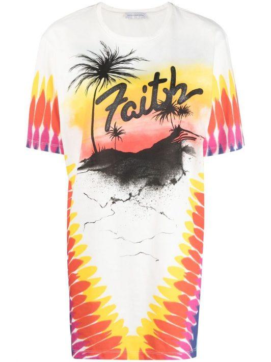 Faith Connexion tie-dye logo print T-shirt - Weiß
