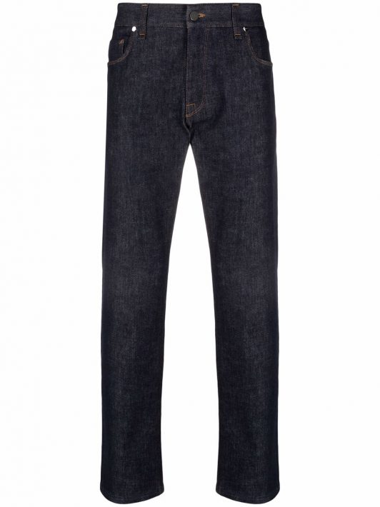 Fendi Jeans mit Logo - Blau