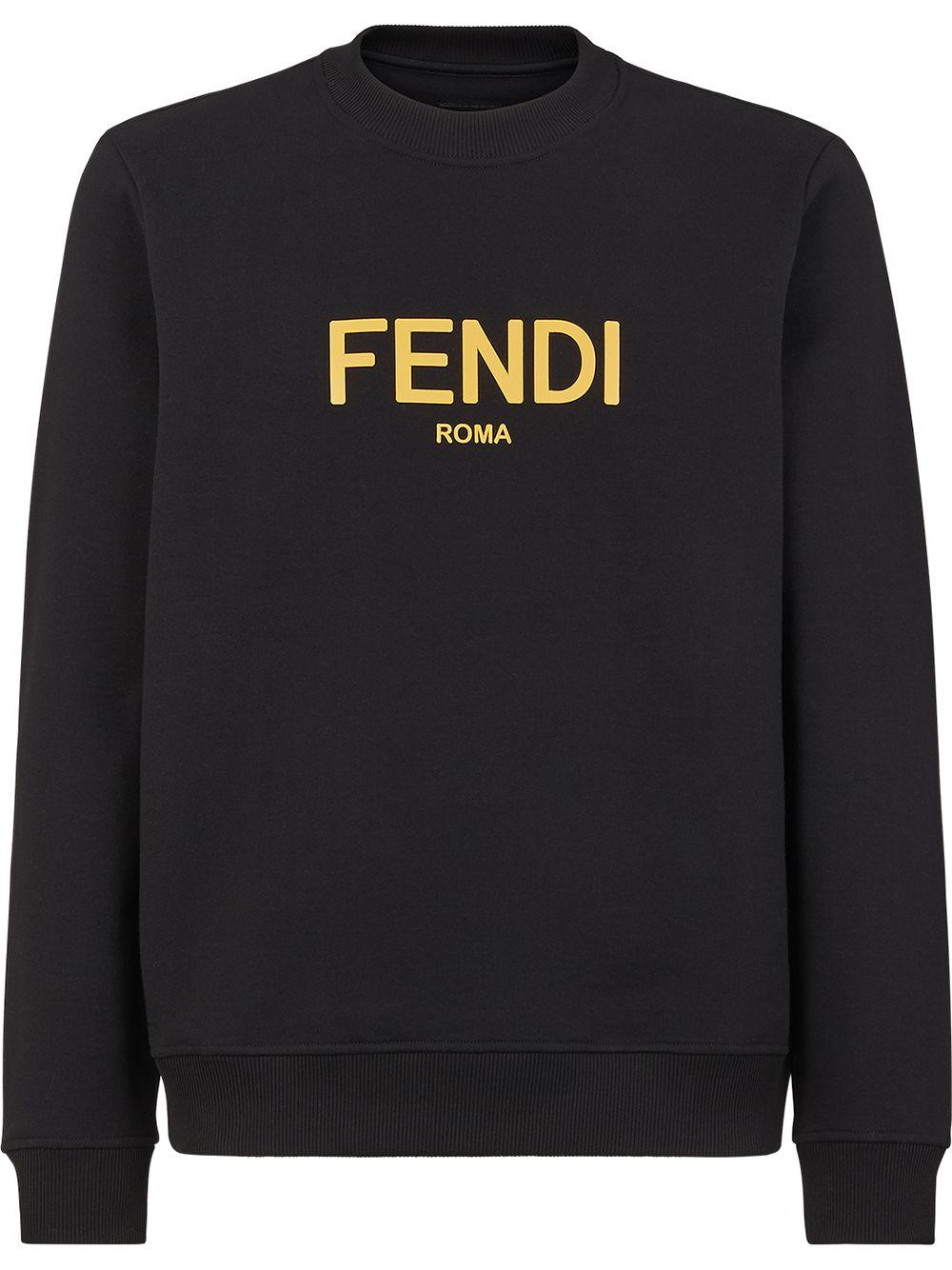 Fendi Sweatshirt mit Logo-Print - Schwarz