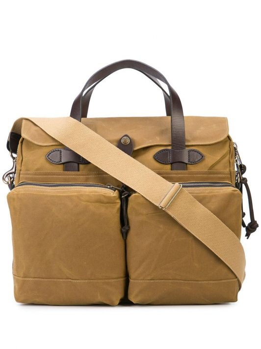 Filson 24 hour tin cloth briefcase - Braun
