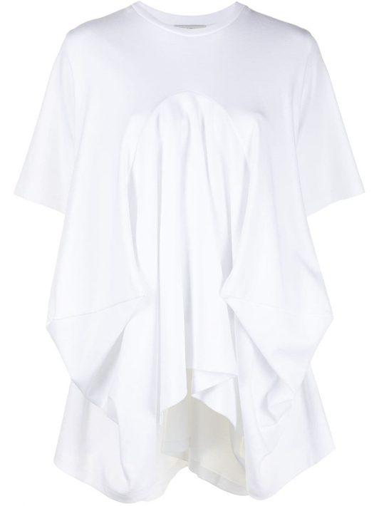 Goen.J Drapiertes T-Shirt - Weiß