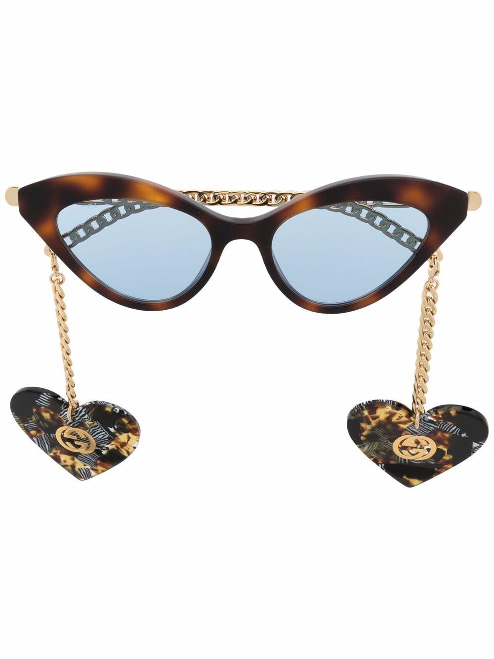 Gucci Eyewear Sonnenbrille mit Cat-Eye-Gestell - Braun