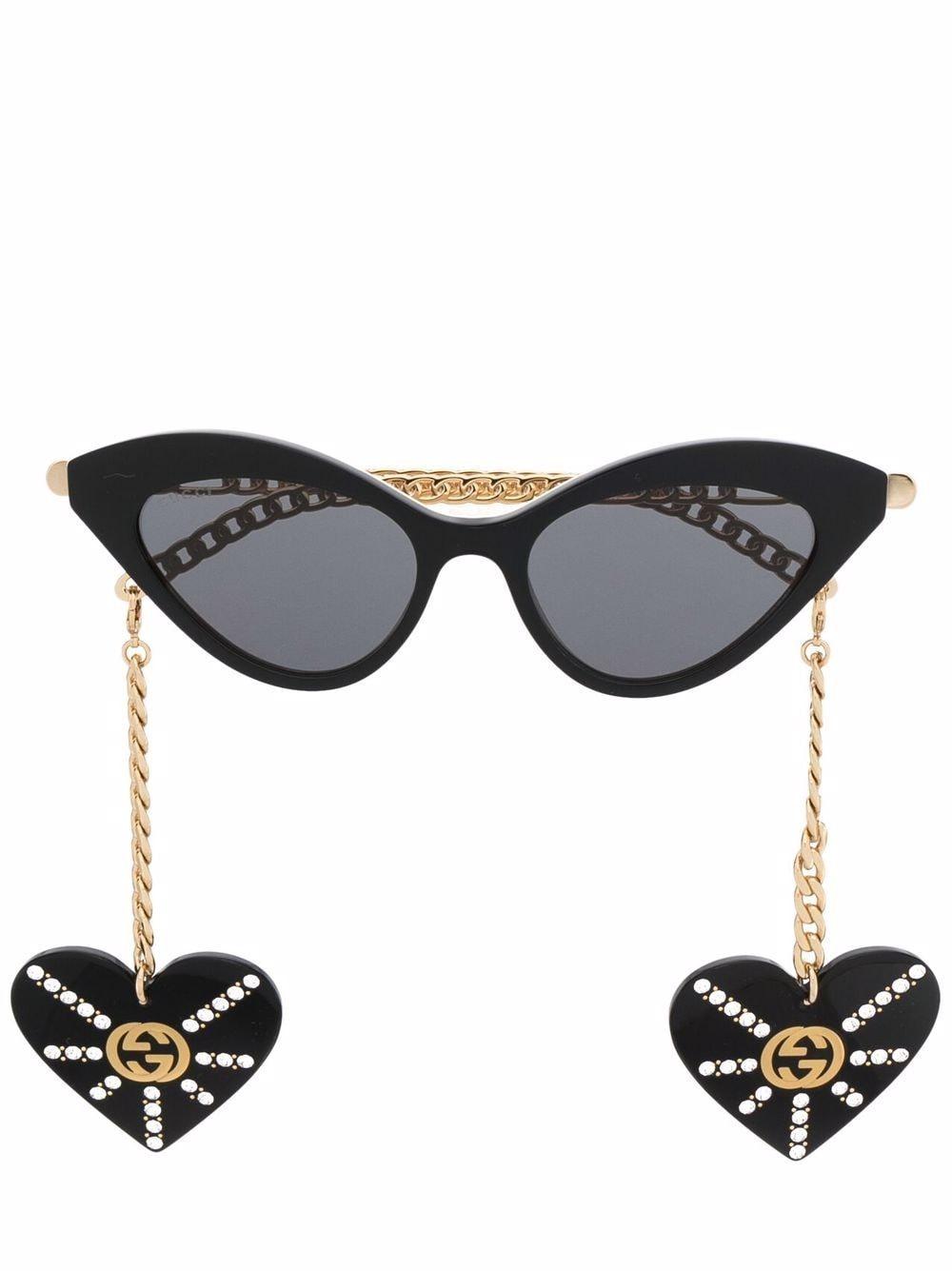 Gucci Eyewear Sonnenbrille mit Cat-Eye-Gestell - Schwarz