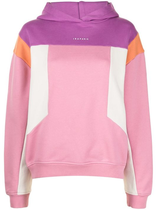IRO colour block hoodie - Mehrfarbig