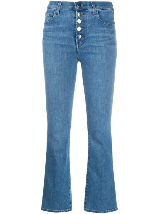 J Brand Cropped-Jeans - Blau