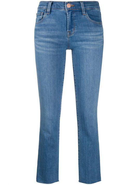 J Brand Halbhohe 'Alana' Cropped-Jeans - Blau