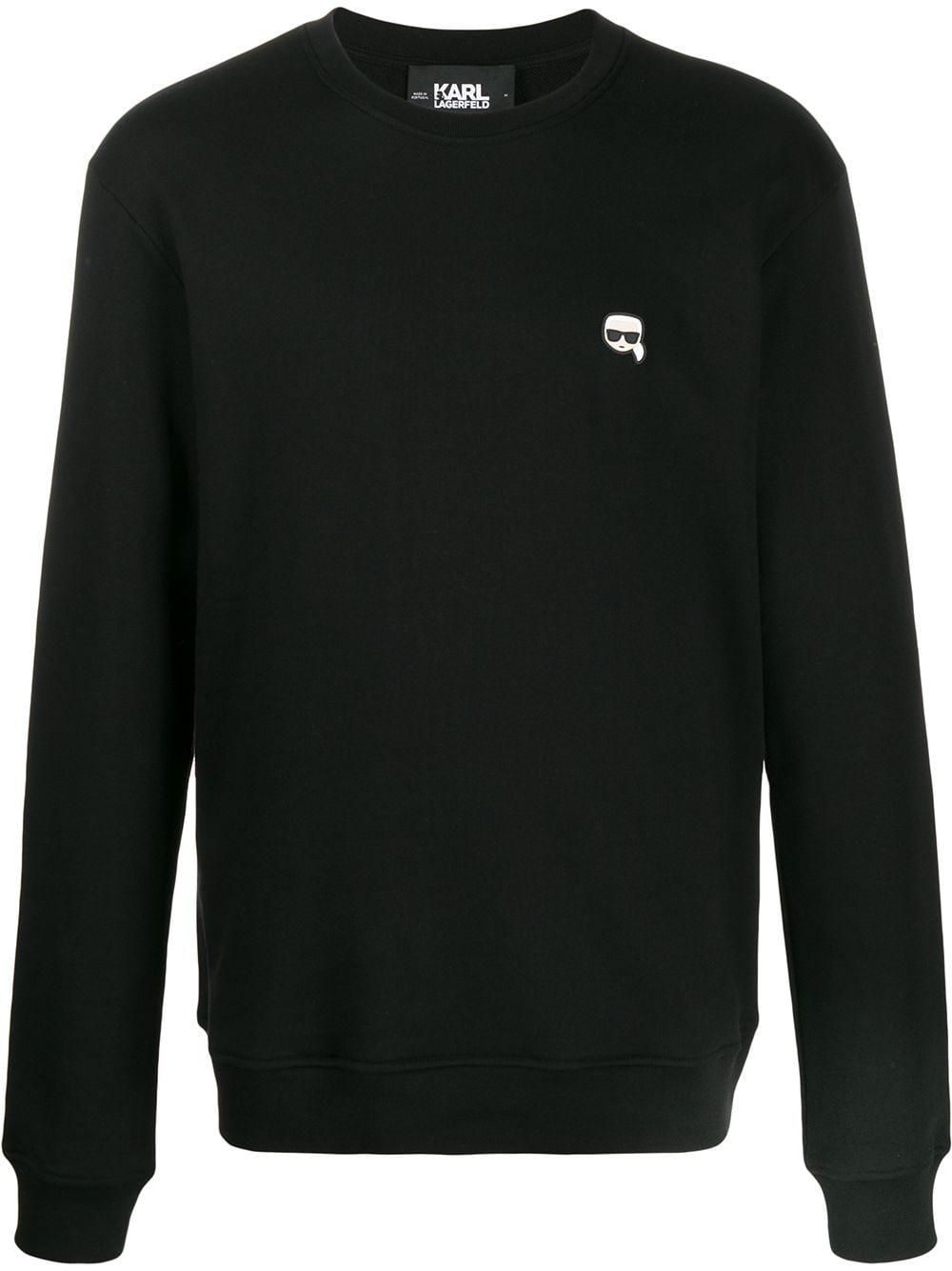 Karl Lagerfeld Sweatshirt mit Patch - Schwarz