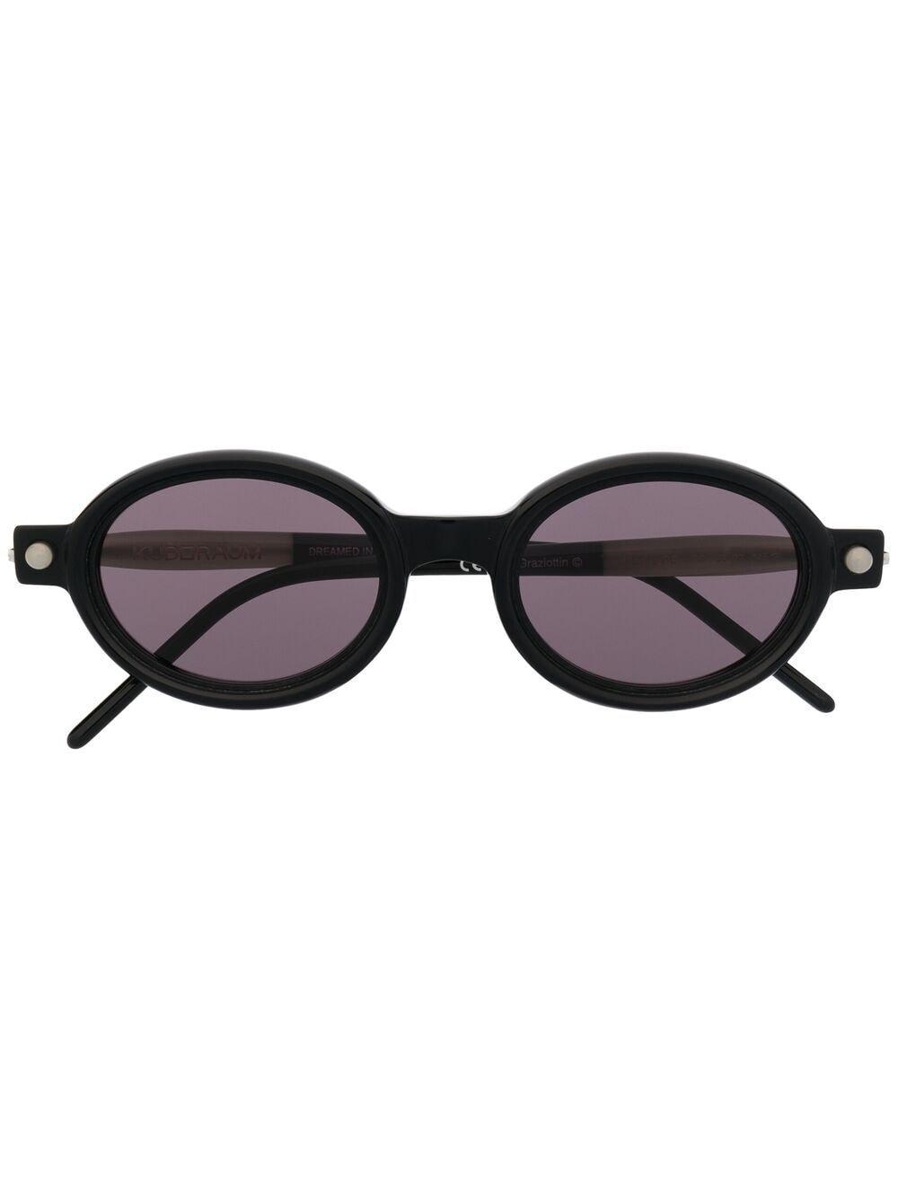 Kuboraum Sonnenbrille mit ovalem Gestell - Schwarz