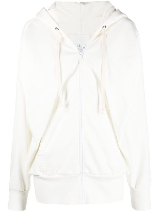 Maison Margiela draped zip-up hoodie - Weiß