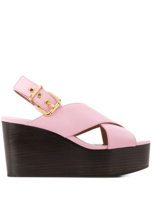 Marni Sandalen mit gekreuzten Riemen - Rosa